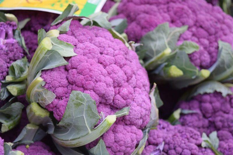 How to plant and grow Cauliflower (Brassica oleracea gemmifera) - purple cauliflower - www.dearplants.com